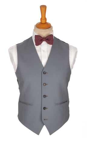 Regent Heritage Dove Waistcoat – Light Grey Wool