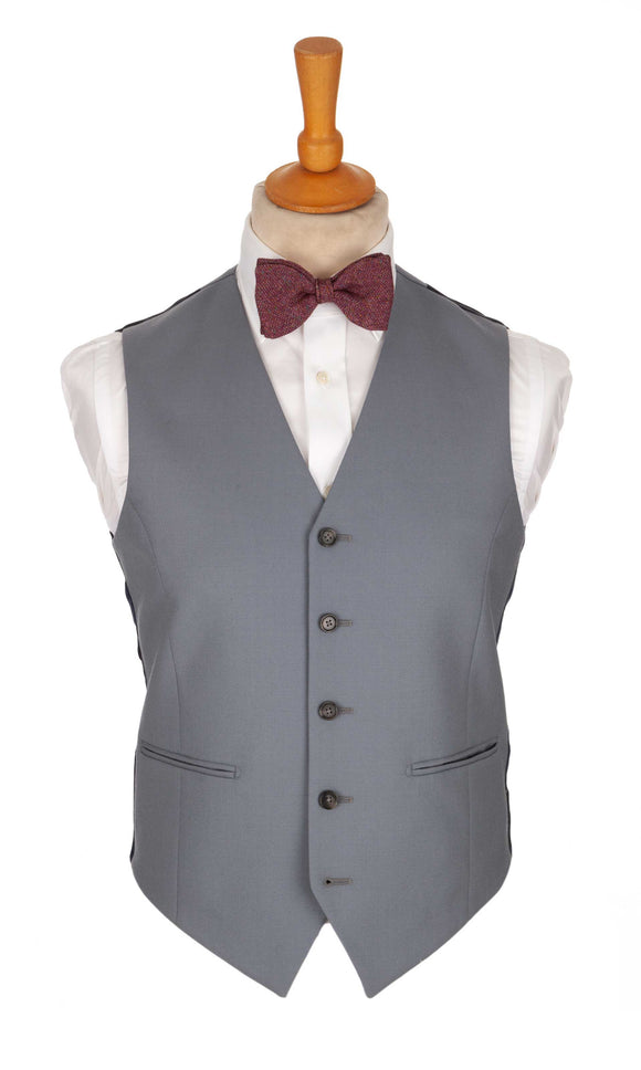 Regent Heritage Dove Waistcoat – Light Grey Wool - Regent Tailoring