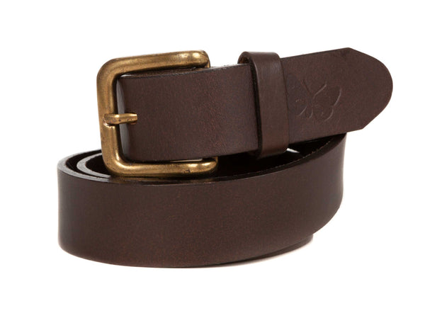 Regent Polo Belt – Plain - Brown Leather