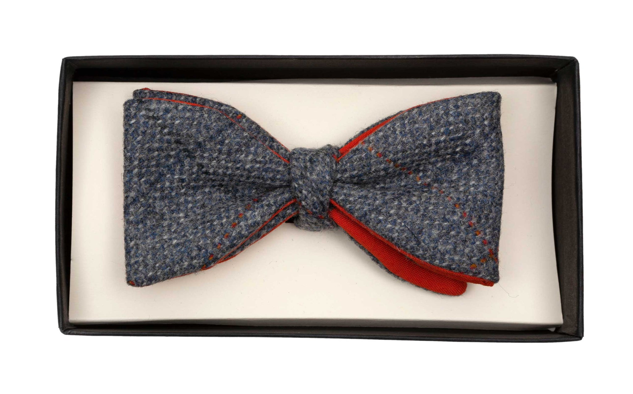 Regent Bow Tie - Slate Tweed with Overcheck - Regent Tailoring