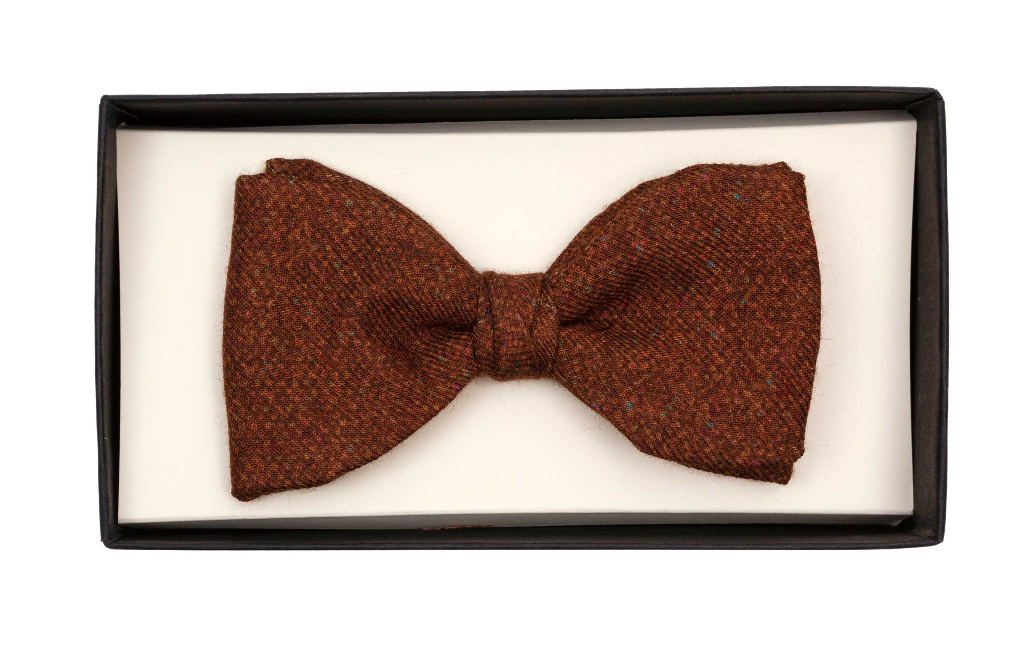 Regent Bow Tie - Multifleck Brown Tweed - Regent Tailoring