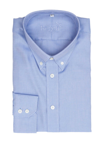 Regent - Heritage - Cotton Twill Button Down Shirt – Light Blue Oxford
