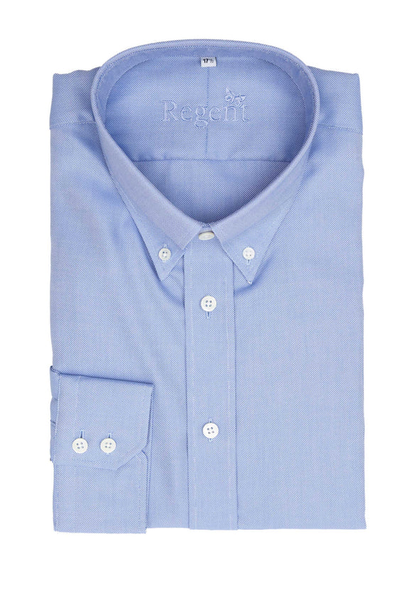 Regent - Heritage - Cotton Twill Button Down Shirt – Light Blue Oxford - Regent Tailoring