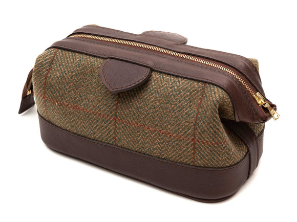 Regent - Tweed and Leather Wash Bag