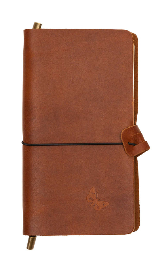 Regent Brown Leather Notebook – Blank and Lined Paper - Regent Tailoring