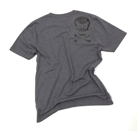 Regent Skull Organic Cotton T-Shirt - Grey