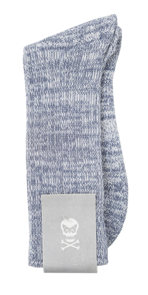 Marled grey cotton socks with padding from Regent