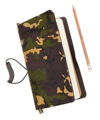 Regent - Traveller's Journal - Camouflage Notebook - Printed Leather