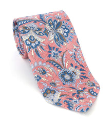 Regent Luxury Silk Tie - Pink Thistle Flower