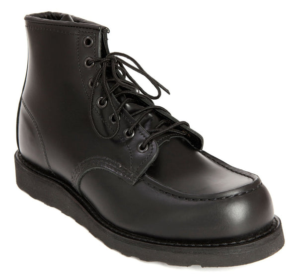 Red Wing Boot - 6-Inch Classic Moc Toe - Black Skagway Leather