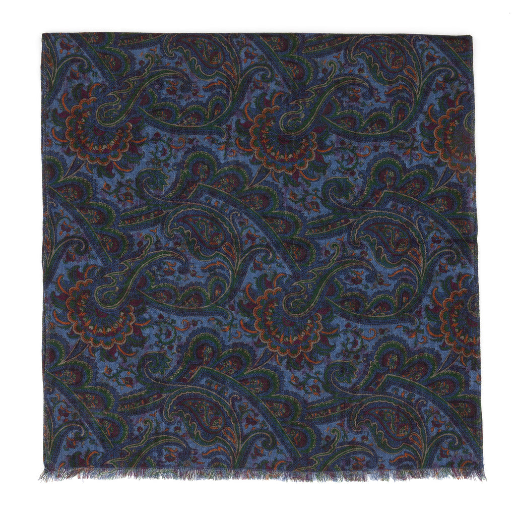 Luxury merino wool unisex scarf designed and produced exclusively by Regent featuring a unique patterning and made in the UK.