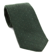 Regent - Luxury Woven Wool Tie - Green Vintage Spot