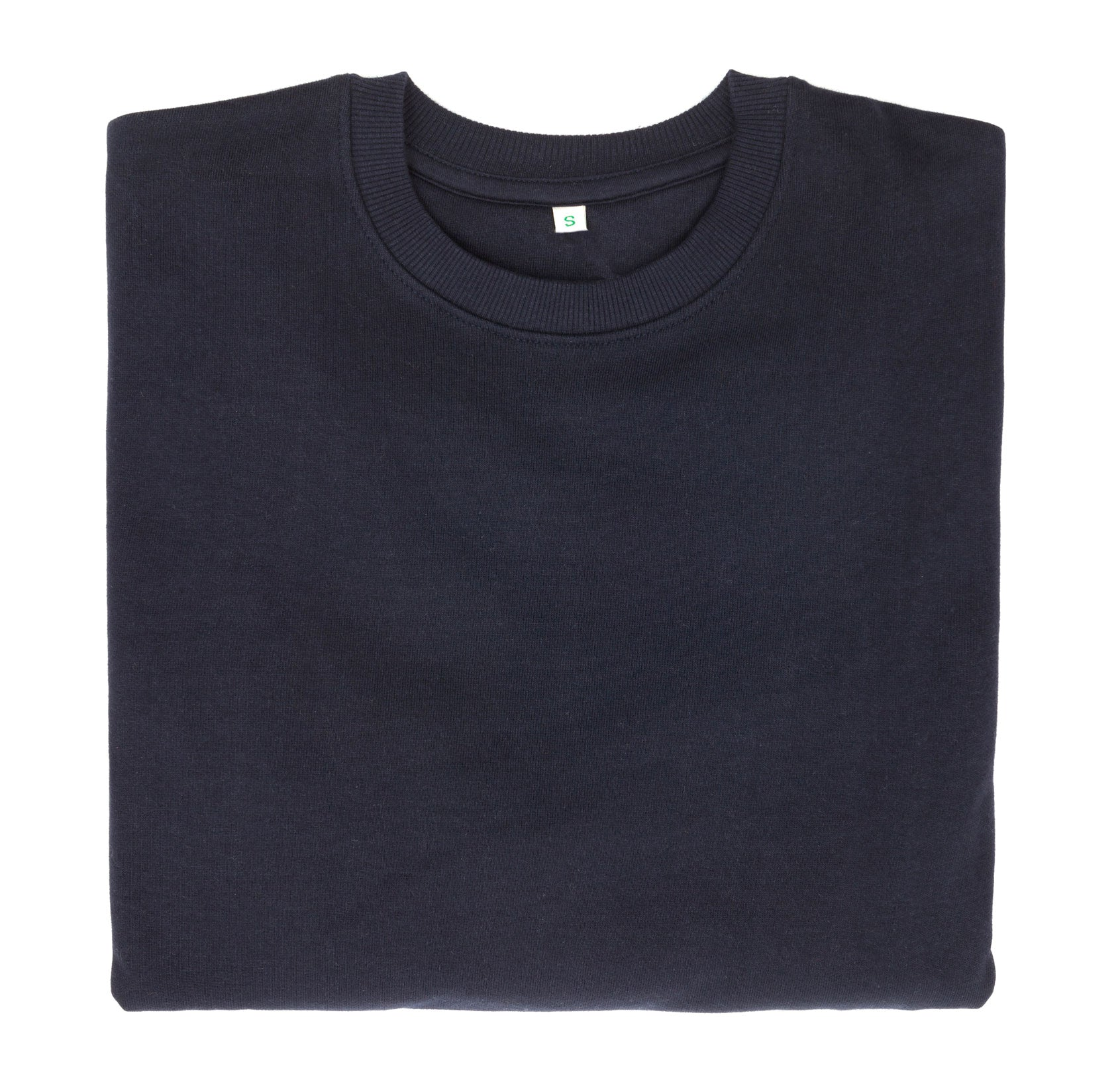 Eco-friendly organic cotton jumper made with carbon neutral footprint in navy