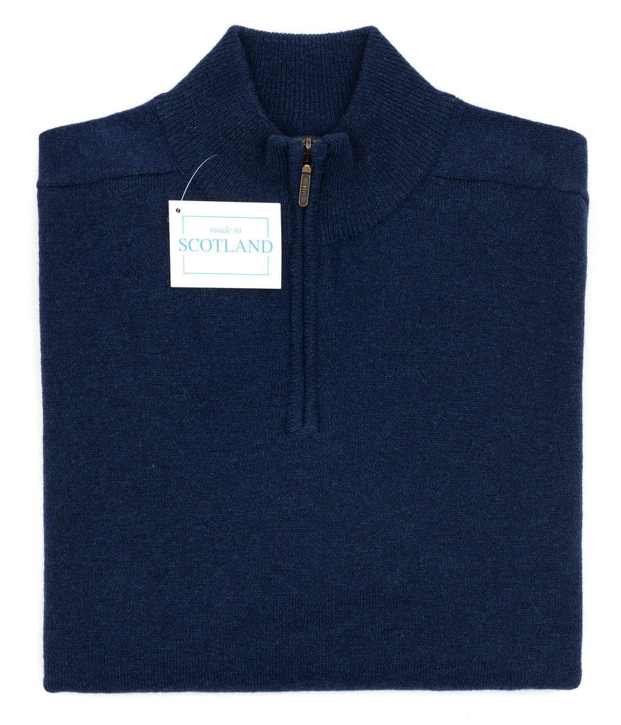 Luxury geelong lambswool quarter zip turtle collar neck jumper uniquely designed and produced by Regent