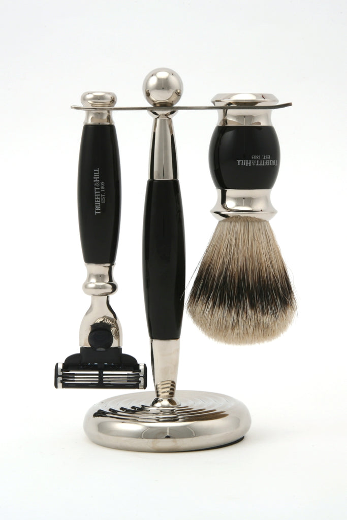Truefitt & Hill - Edwardian Collection Shaving Set - Ebony - Regent Tailoring