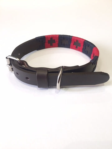 Regent - Dog Collar - Argentinian - navy/red