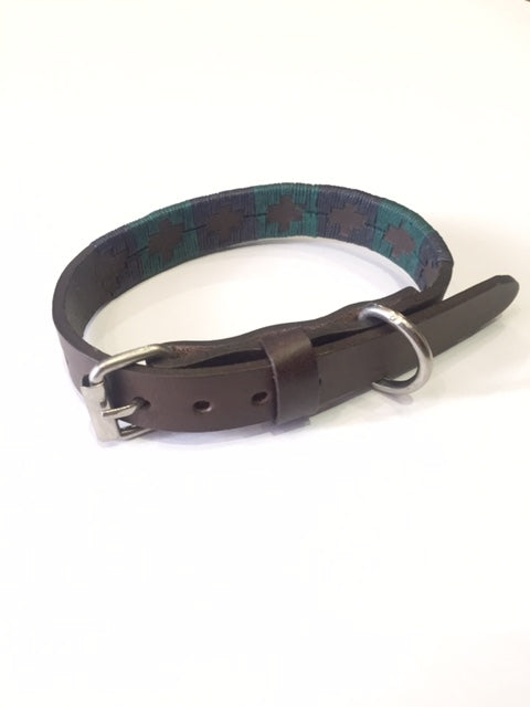 Polo Dog Collar - Green/Navy