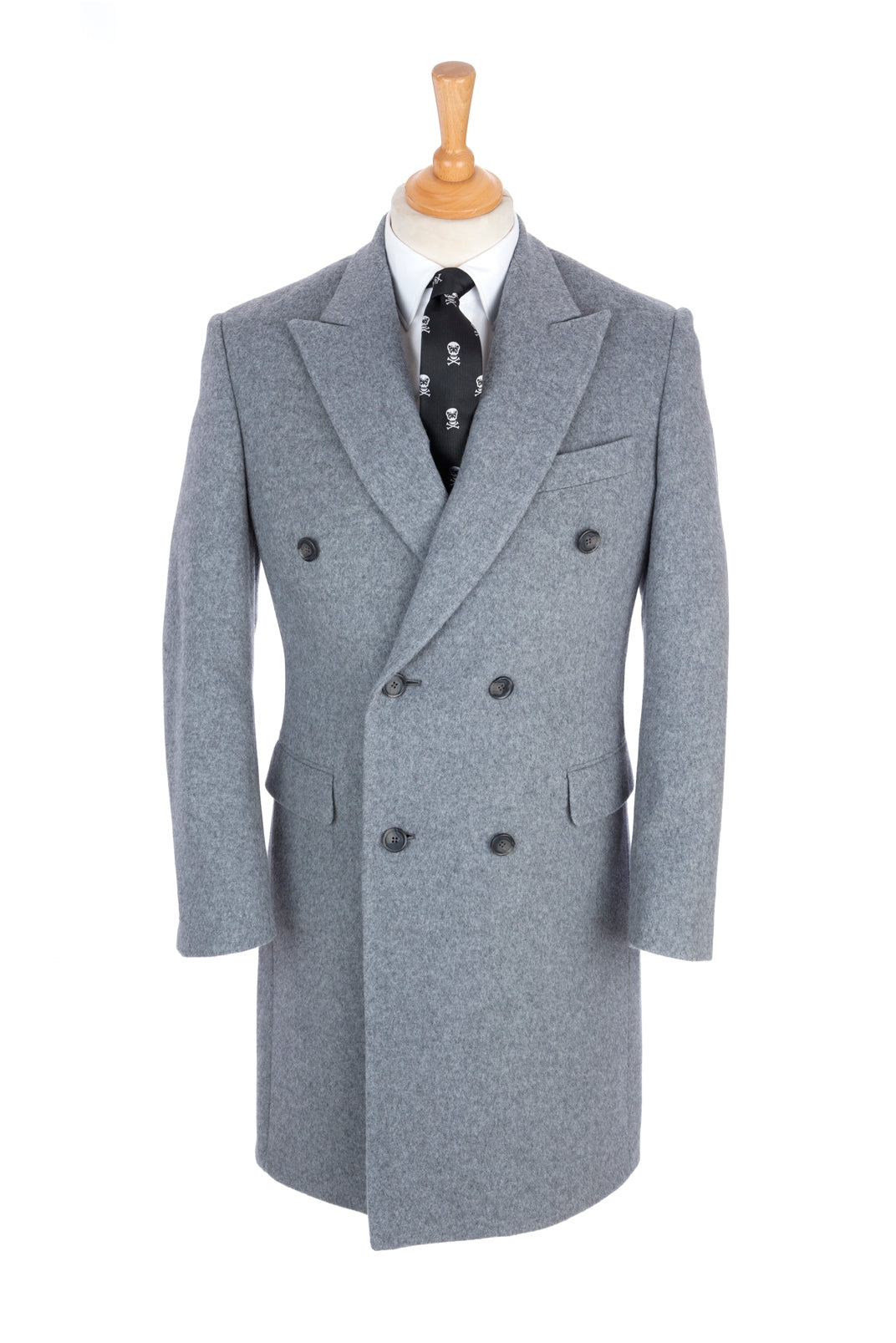 Regent Overcoat - Jason - Cashmere and Wool - Light Grey - Regent Tailoring