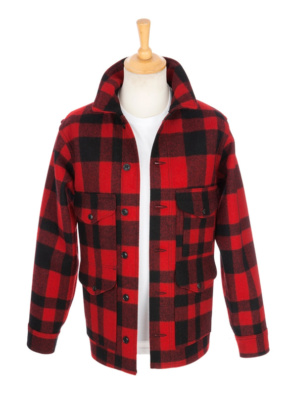 Filson Mackinaw Wool Cruiser Jacket - Red and Black