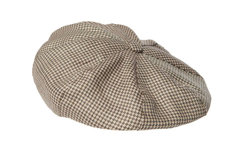 Regent - 8-Piece Baker Boy Cap - Dogtooth - Gold