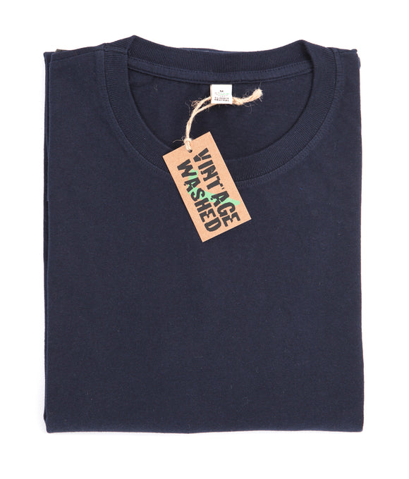 Organic Vintage Washed Navy Jersey T-Shirt