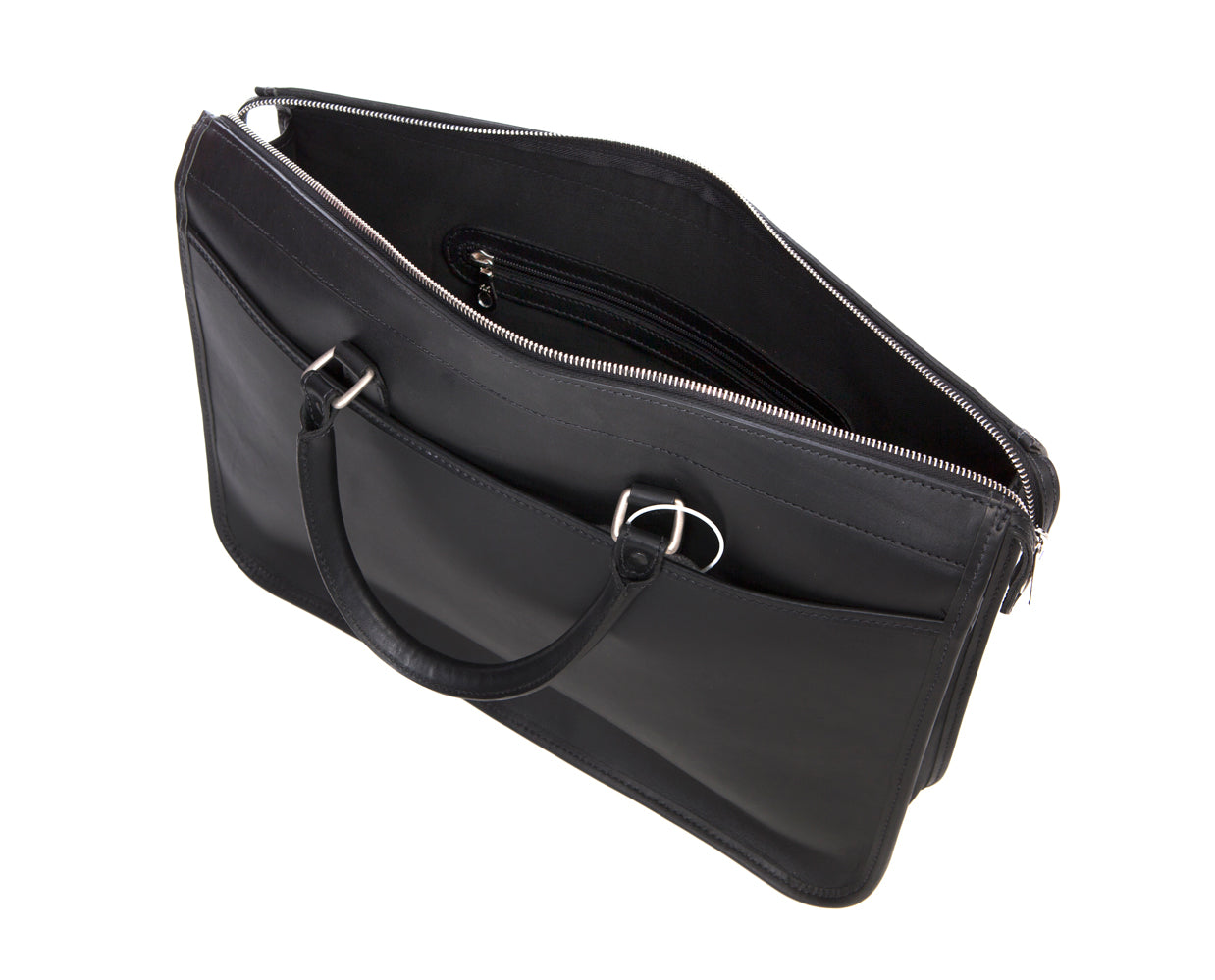 Tusting Marston Briefcase - Black Bridle Leather - Regent Tailoring