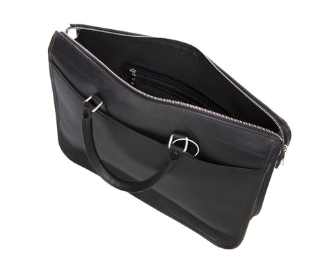 Tusting Marston Briefcase - Black Bridle Leather
