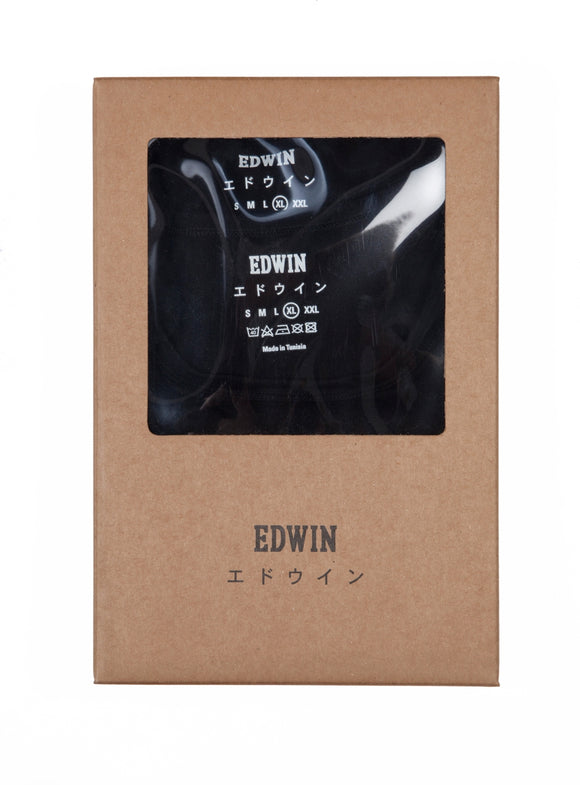 Edwin - Short Sleeve T-Shirt - Double Pack - Black - Regent Tailoring