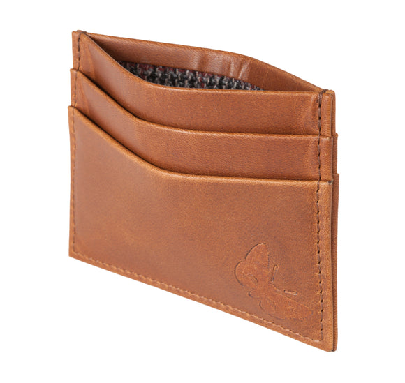 Regent Leather Card Case - Rusty Brown - Regent Tailoring