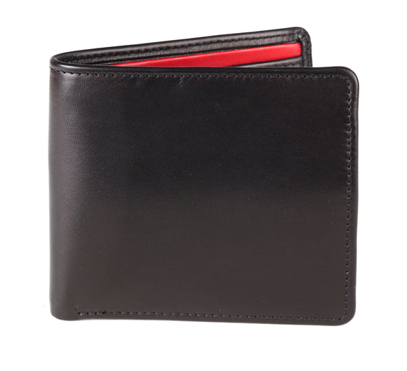 Regent Short Leather Wallet - Black Verglass