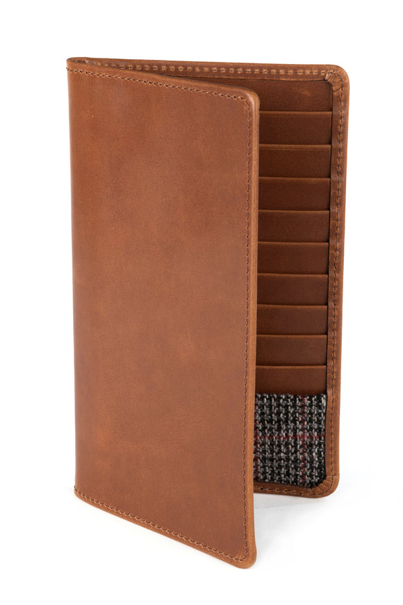 Regent Tall Leather Wallet - Rusty Brown