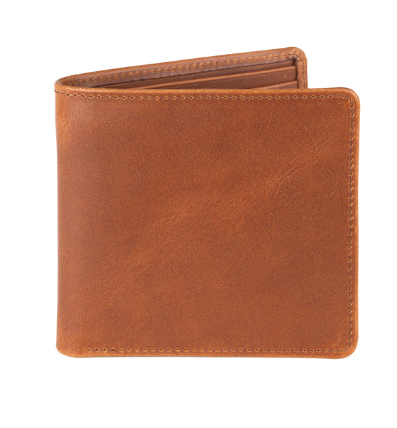 Regent Short Leather Wallet - Rusty Blaze