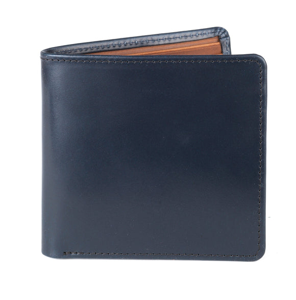 Regent Short Leather Wallet - Navy Bridle