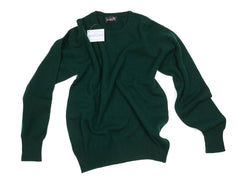 Regent - Crew Jumper - Geelong Lamb Wool - Dark Green