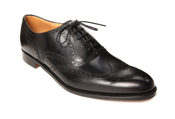 Cheaney Broad II Oxford Wingcap Brogue - Black Calf Leather