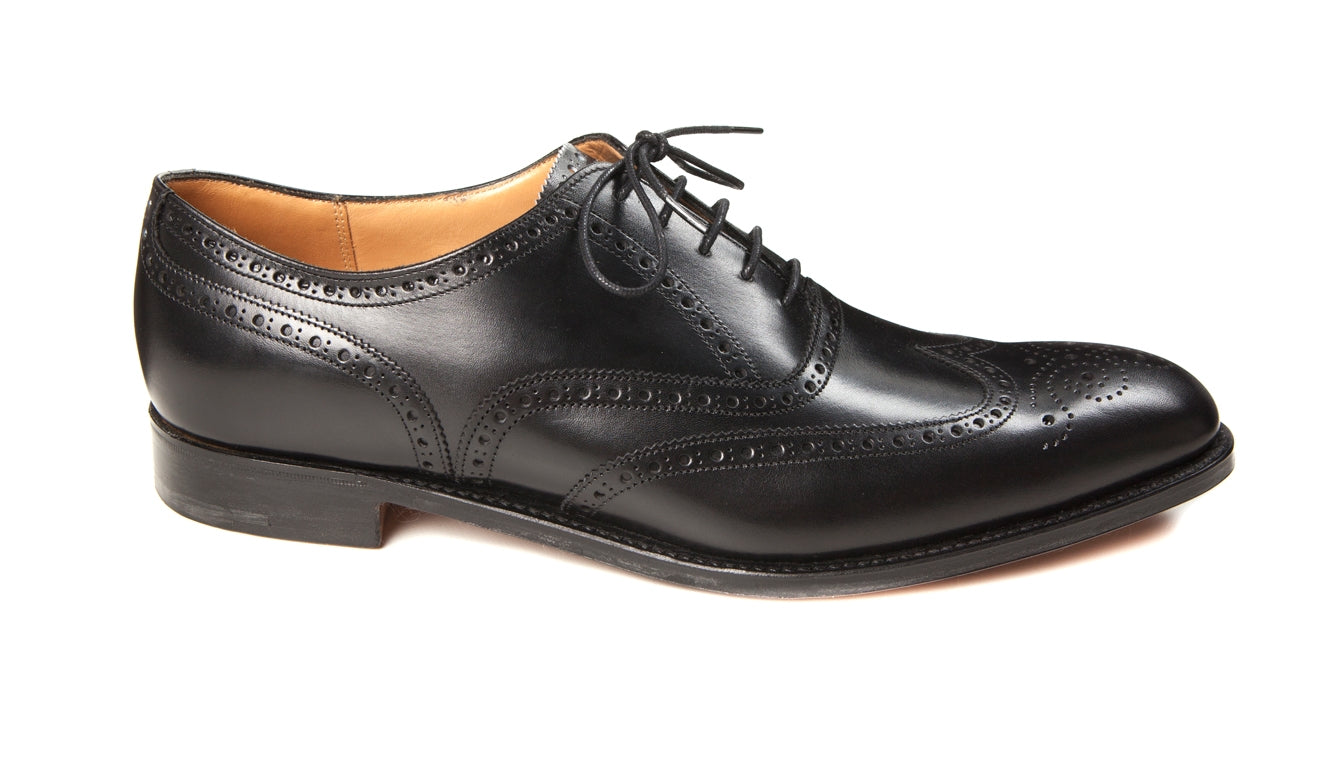 Joseph Cheaney - Broad II Oxford Wingcap Brogue - Black Calf Leather - Regent Tailoring