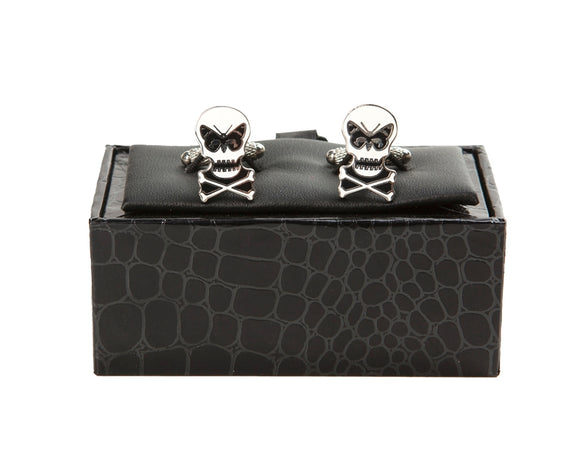 Regent Cufflinks - Regent Skull with Butterfly
