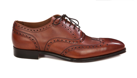 Cheaney Litchfield Brogue Shoe Brandy