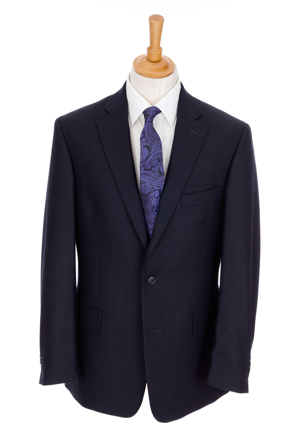 Regent 'Ian' Heritage 2-Button Suit - Navy Blue British Cloth