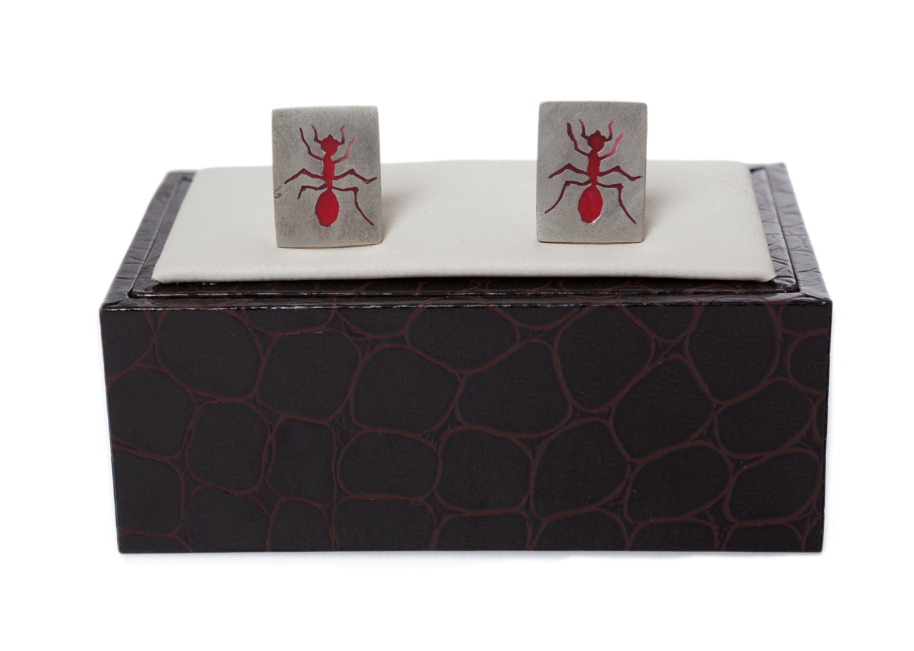 Regent Sterling Silver Cufflinks - Red Ants