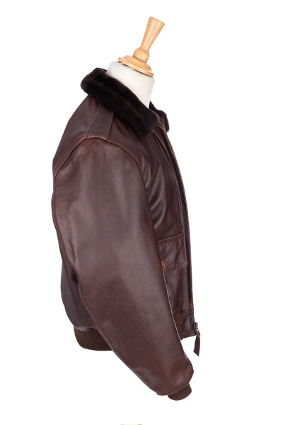 Regent and Aero Leather - Bomber Jacket - Brown Steerhide
