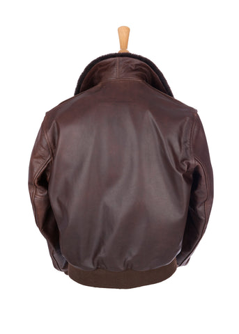 Regent and Aero Leather Brown Steerhide Bomber