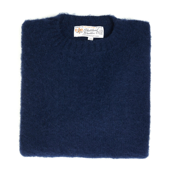 Shetland Woollen Co.  - Jumper - Navy -Shaggy Dog - Regent Tailoring