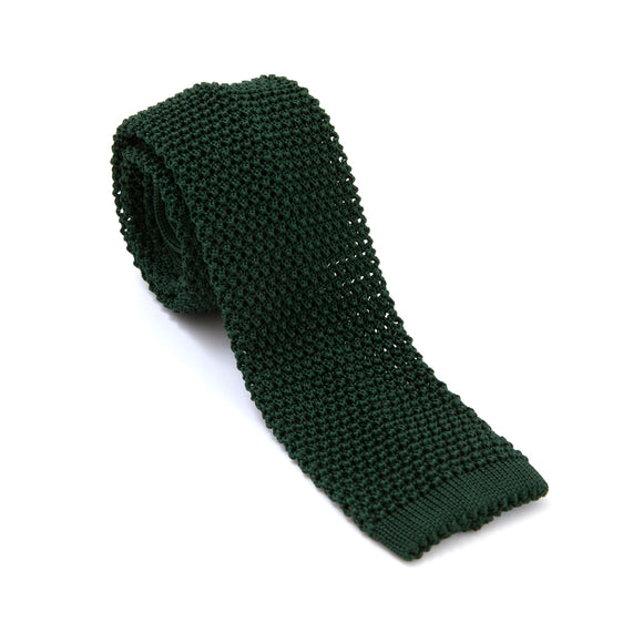 Regent Knitted Silk Tie - Bottle Green