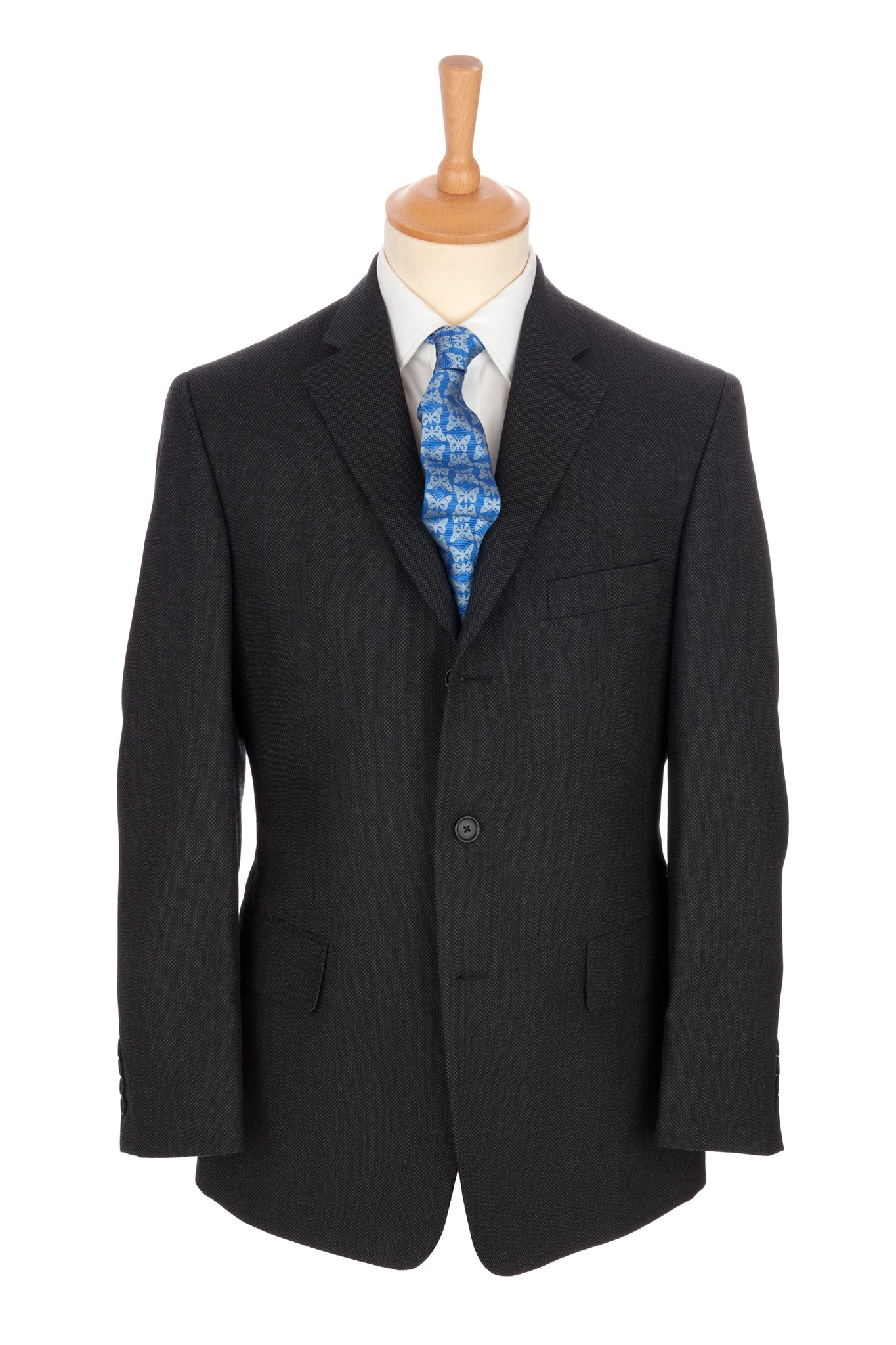 Regent - 'Charles' Heritage - 3-Button Suit In Grey Wool - Regent Tailoring
