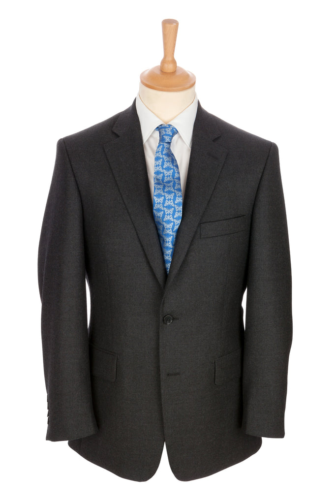 Regent - 'Gray' Heritage - 2-Button Suit in Grey Wool - Regent Tailoring