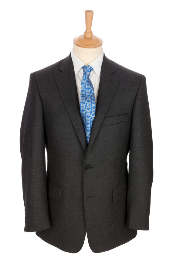 Regent - 'Gray' Heritage - Two Button Suit in Grey Wool - Regent Tailoring