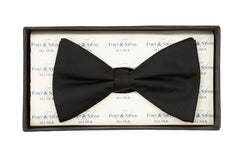 Regent Silk Bow Tie - Black