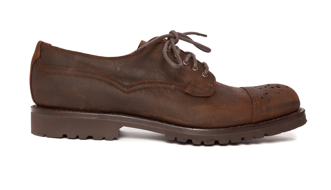 Regent - 'Buck Rogers' - Waxed Leather Shoes - Brown - Regent Tailoring