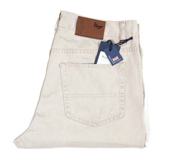 Regent Cotton Jeans - Boston - Stone